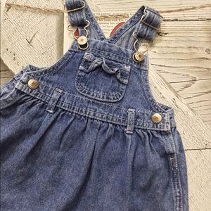 Arizona overall jeans dress, size 3/6 months